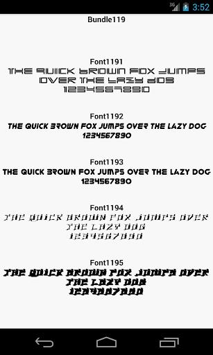 Fonts for FlipFont 119