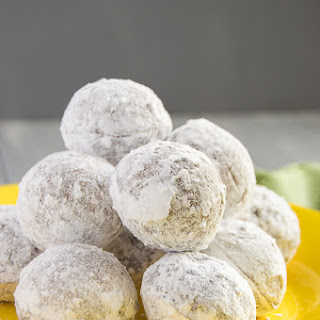 Powdered Sugar Chocolate Donut Holes