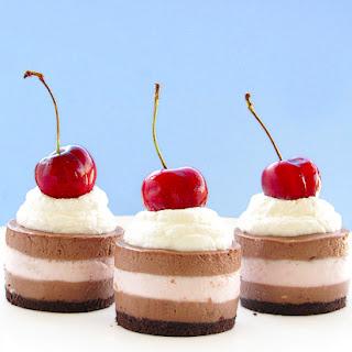 Mini Black Forest Cheesecake