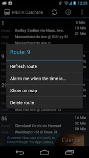 MBTA - Catch me (live alerts) - screenshot thumbnail
