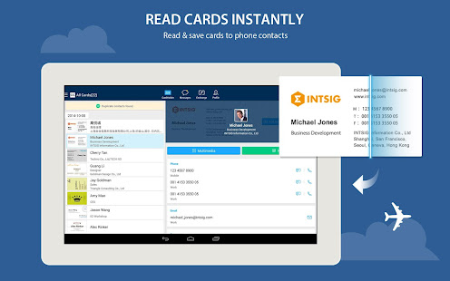 Camcard free business card r apps on google play screenshot image reheart Image collections