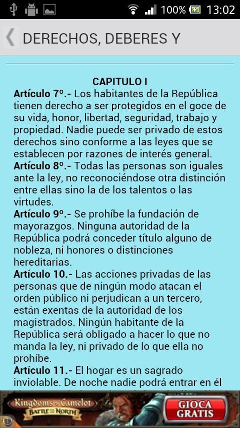 Constitución de Uruguay - screenshot