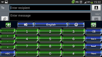 Screenshot of Alien Hive GO Keyboard theme