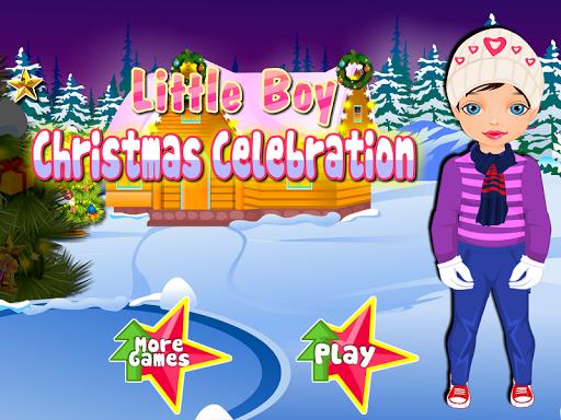 小男孩聖誕節遊戲