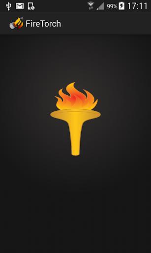 Flashlight fire torch