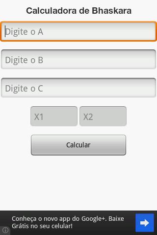 Calculadora de Bhaskara