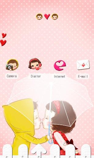 CUKI Theme Adorable Kiss Coupl