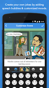 Bitstrips- screenshot thumbnail