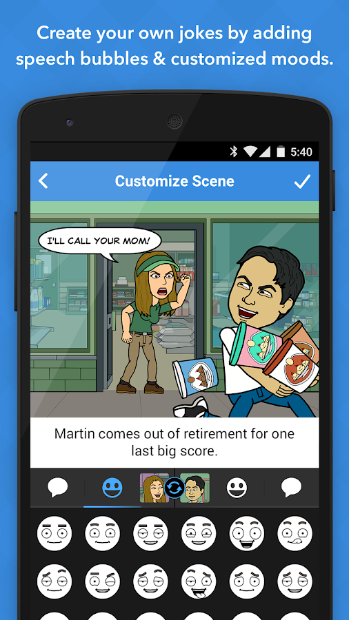 Bitstrips - screenshot