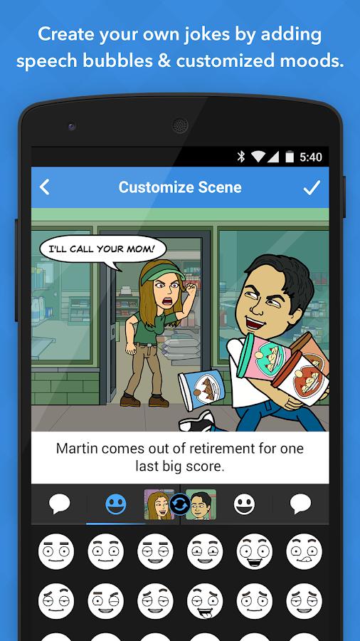 Bitstrips - screenshot