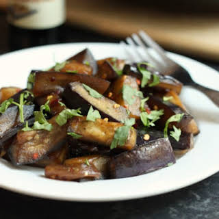 Sticky Honey Soy Aubergine.