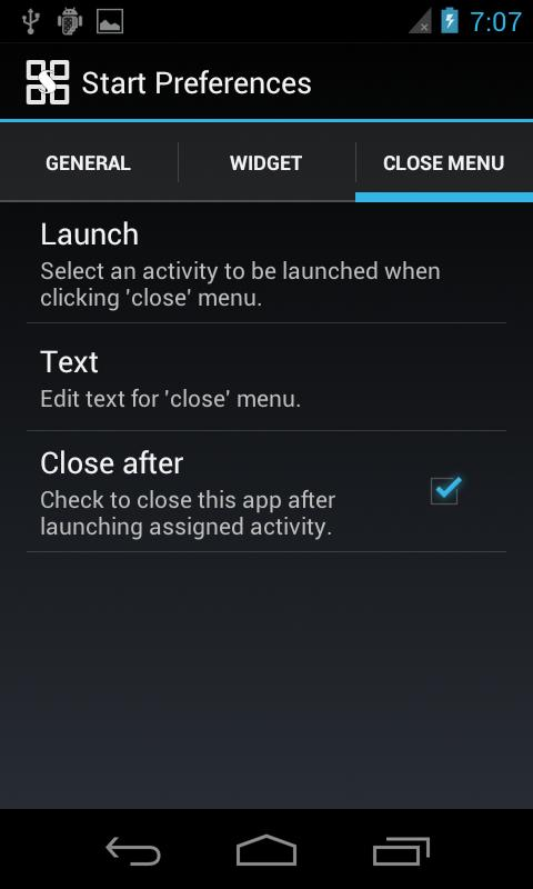 Start menu for Android (AD) - screenshot