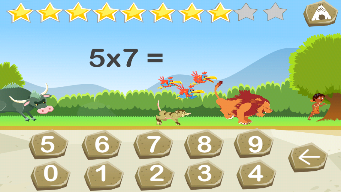 Tables de multiplication lite applications android sur for Table de multiplication de 7 jeux