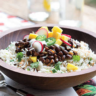 Black Beans and Coconut-Lime Rice.