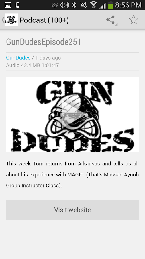 Gun Dudes Radio Podcast- screenshot