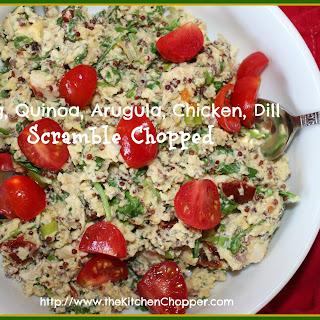 Egg, Quinoa, Arugula, Chicken, Dill Scramble Chopped