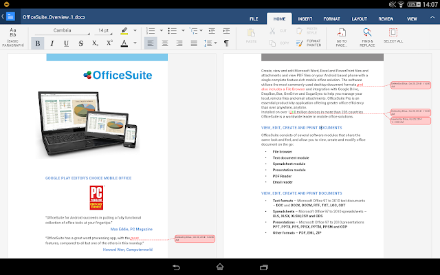OfficeSuite 8 Pro (PDF&Fonts) - screenshot