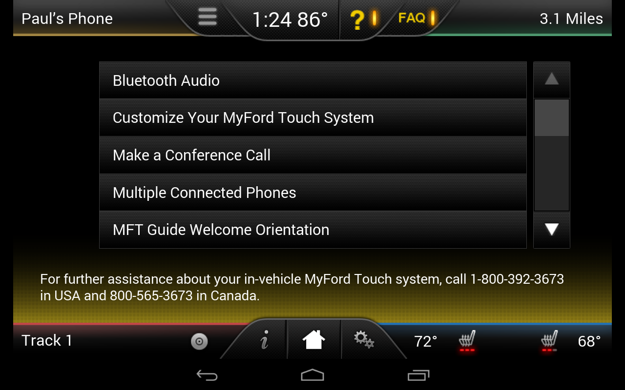 MyFord Touch Guide - screenshot