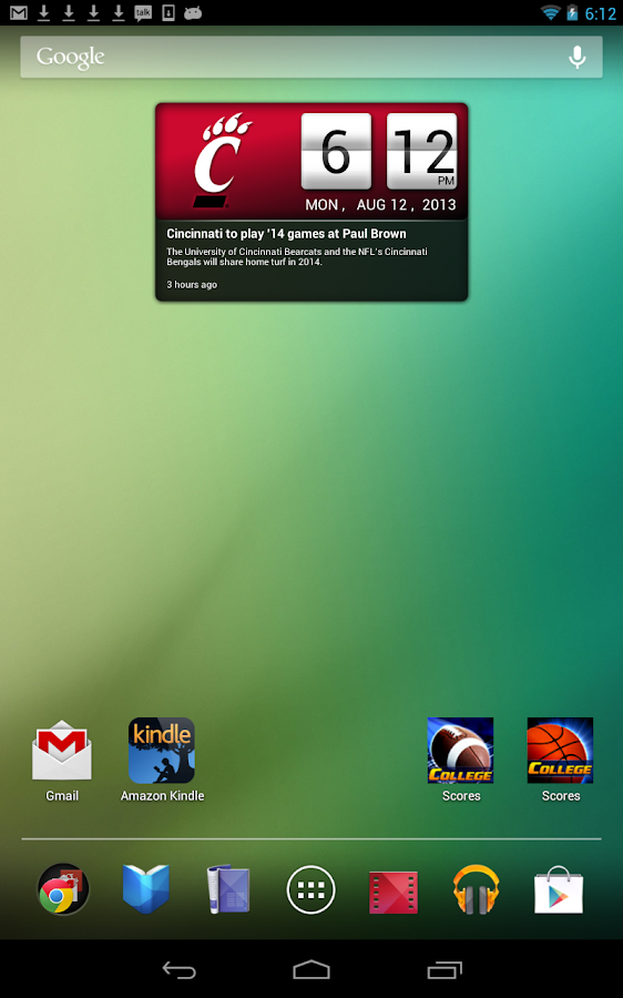 Cincinnati Bearcats Live Clock Android Apps On Google Play