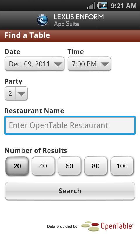 Lexus Enform App Suite- screenshot