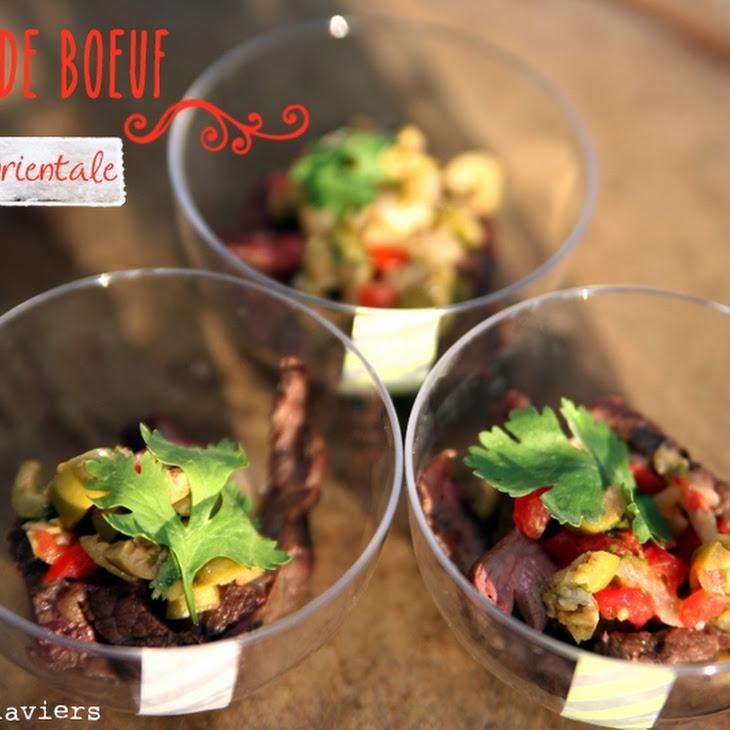 Seared Flank Steak and Oriental Salsa