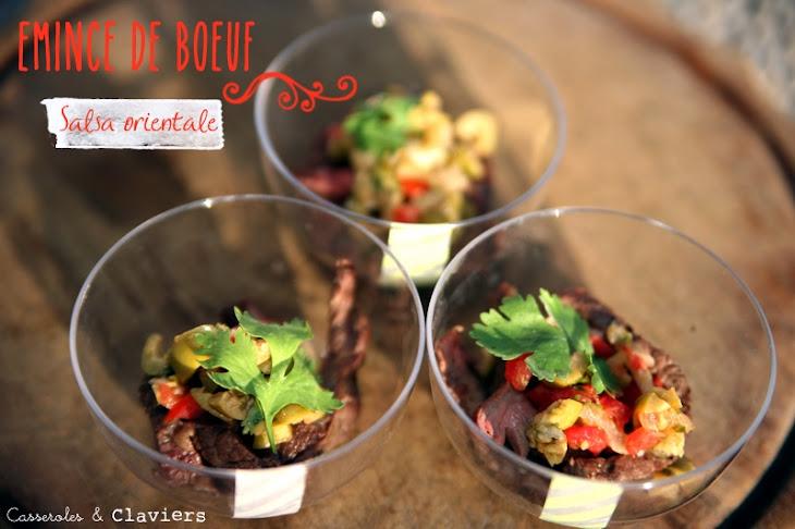 Seared Flank Steak and Oriental Salsa Recipe