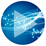 Poweramp Skin Sphere Blue v1.1