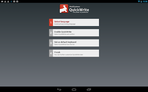 QuickWrite Keyboard FREE - screenshot thumbnail