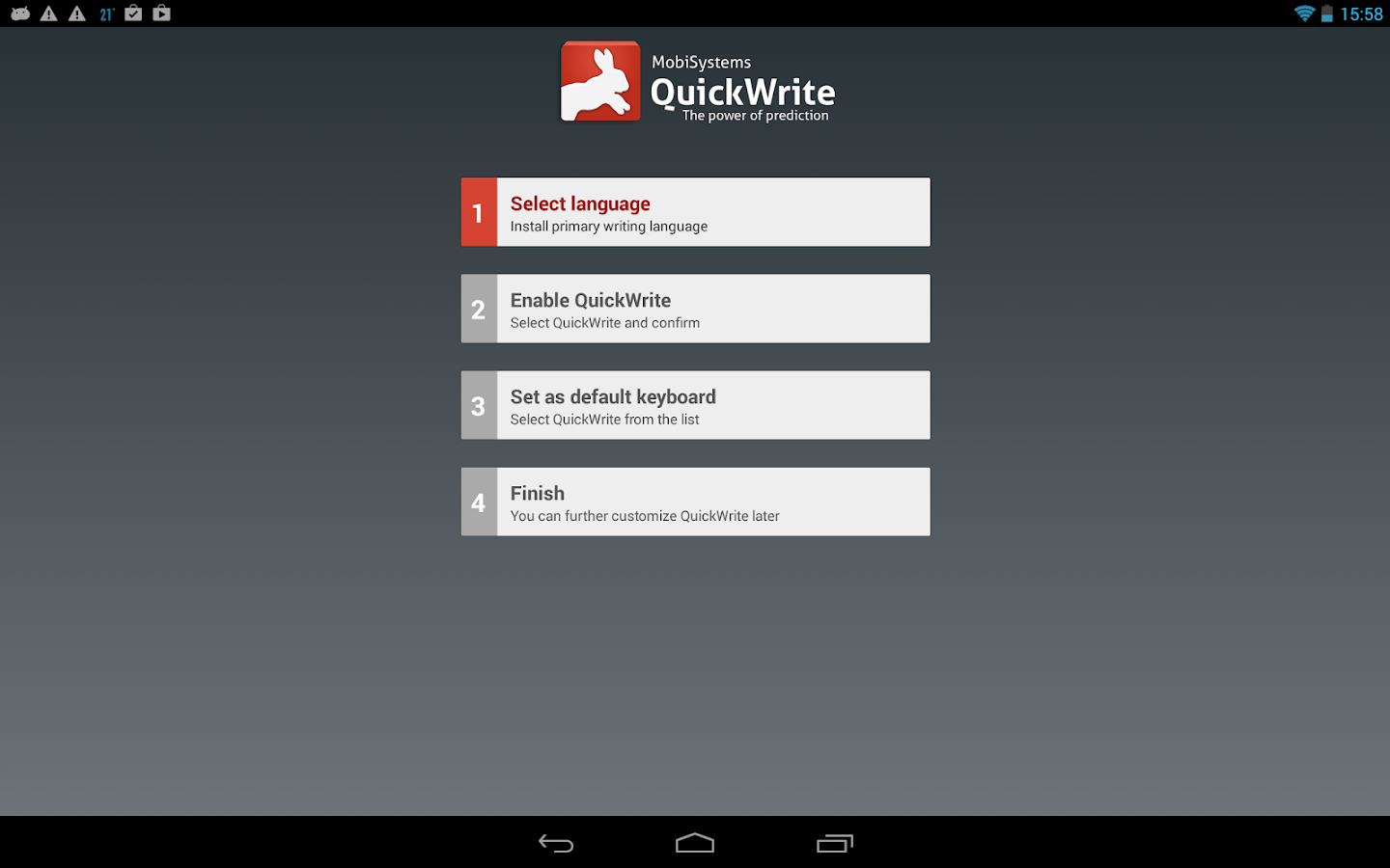 OfficeSuite QuickWrite - screenshot