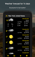Screenshot of Weather - 16 days forecast
