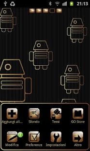 My Gold theme GO launcher EX - screenshot thumbnail