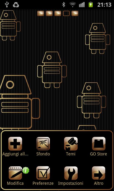 My Gold theme GO launcher EX - screenshot