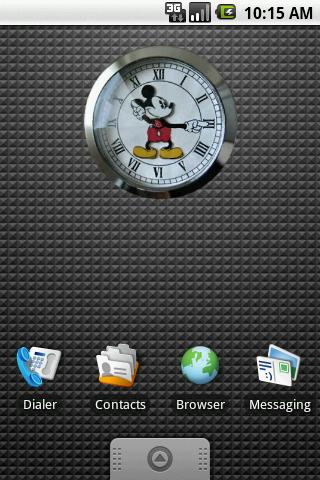 Mickey Mouse Clock Widget 2x2 - screenshot