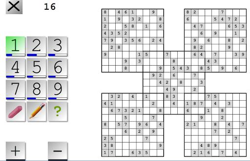 Samurai Sudoku Multiboard lite