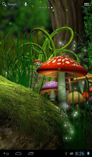 妖精の森の中のホタル
