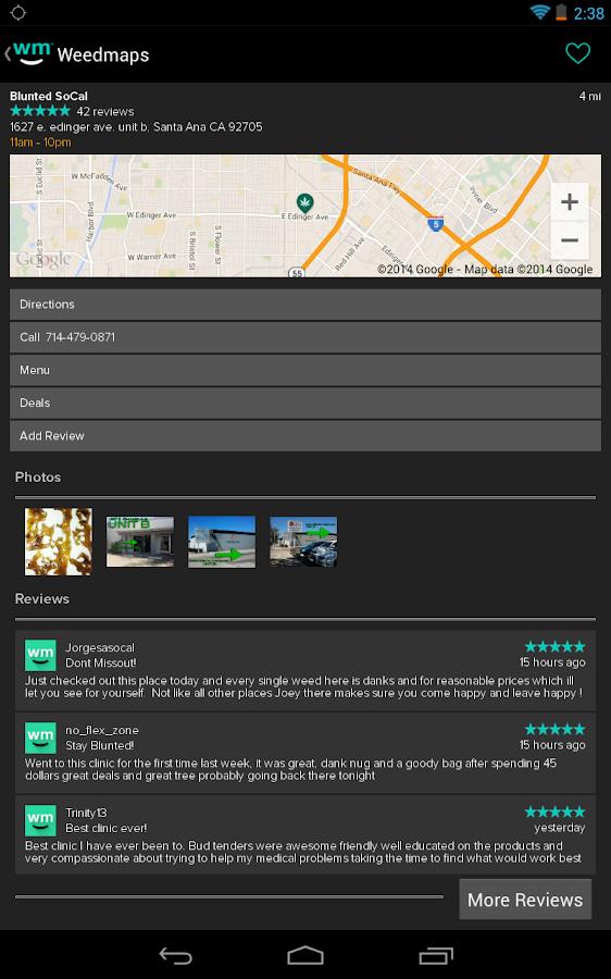 Weedmaps - screenshot