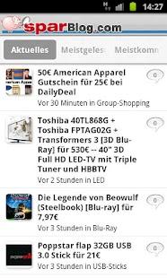 SparBlog.com – Schnäppchen App - screenshot thumbnail
