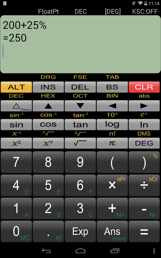 Panecal Scientific Calculator- screenshot