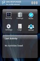 Screenshot of SMS Responder Lite