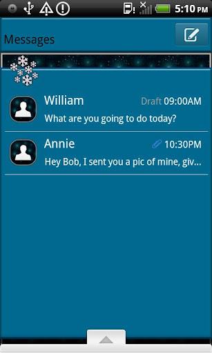 GO SMS THEME WinterWonder4U