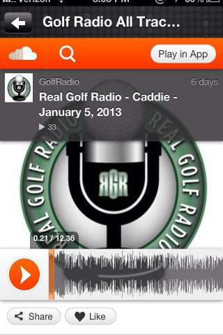Golf Radio- screenshot