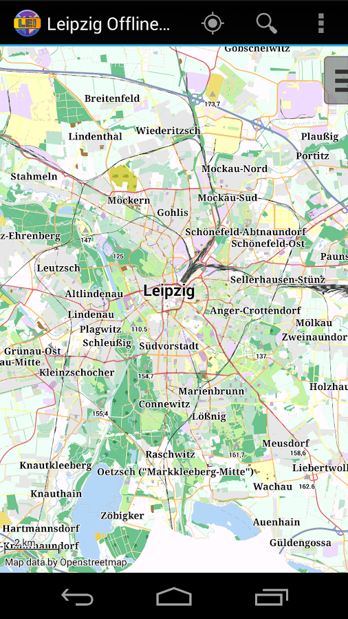Leipzig Offline City Map - screenshot