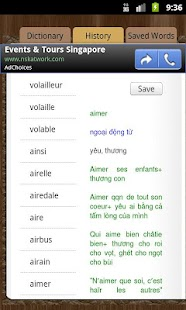 Dictionary French Vietnamese - screenshot thumbnail