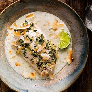 Fish with Coconut-Shallot Sauce.