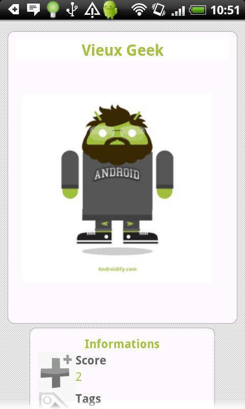 AndroiFy : Partage de BugDroid - screenshot