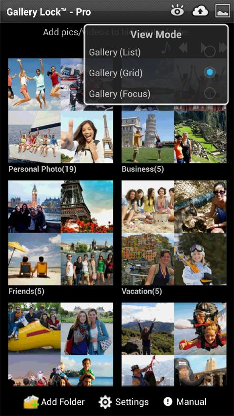 Gallery Lock Pro(Hide picture) - screenshot