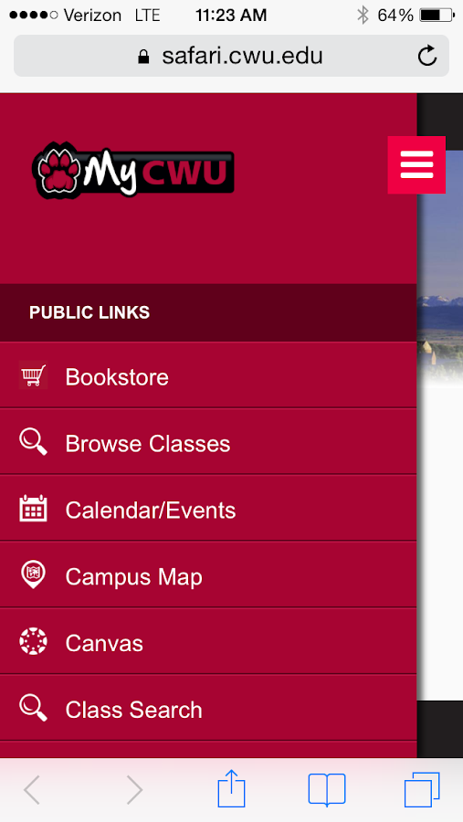 CWU Mobile - screenshot