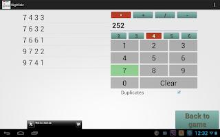 Screenshot of MathDoku Extended