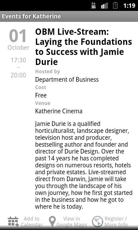 October Business Month - screenshot