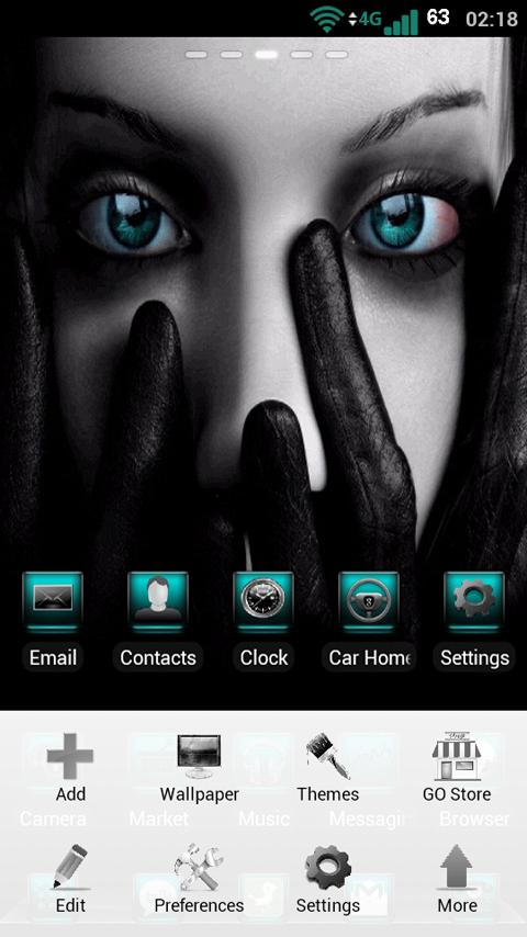 GO Launcher Torquoise Theme - screenshot